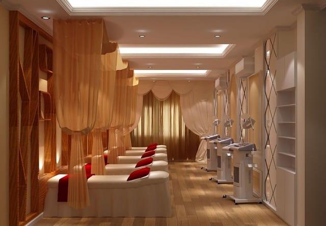 Ở mẫu thiết kế này, Spa mang đến cảm giác nhẹ nhàng, ấm cúng và riêng tư