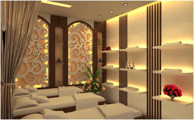 Spa được trang hoàng không gian đơn giản, ấn tượng và rất tinh tế