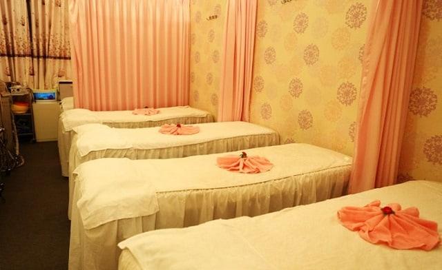 Spa được thiết kế với phong cách ngọt ngào, nhẹ nhàng