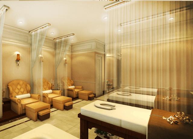 Spa được ưu tiên thiết kế theo phong cách lãng mạn, ấm cúng