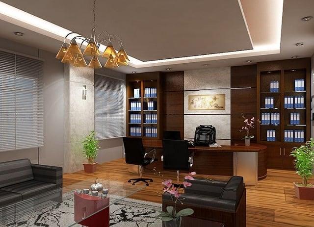 Văn phòng tận dụng tối đa nguồn ánh sáng tự nhiên bên ngoài qua những tấm cửa kính lớn