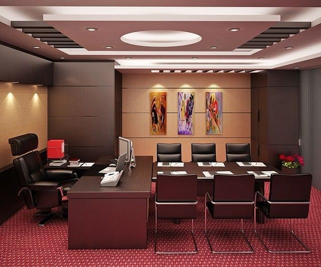 Thiết kế của văn phòng làm việc đẹp với cách bố trí các món nội thất hợp lý, khoa học