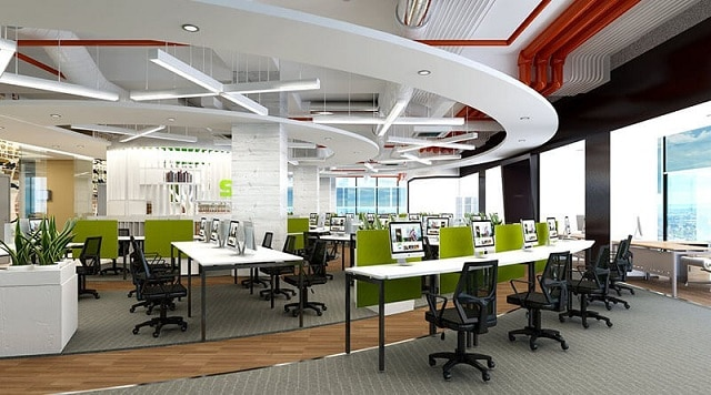 Không gian văn phòng làm việc nhỏ nhắn với các món nội thất bày trí thông minh