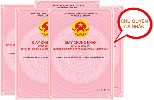 Sổ hồng là giấy chứng nhận sử hữu nhà riêng
