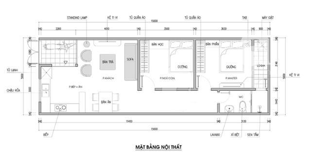 Thiết Kế Nhà 1 Tầng Diện Tích 5x15m Với Giá Hoàn Thiện Khoảng 160 Triệu 1