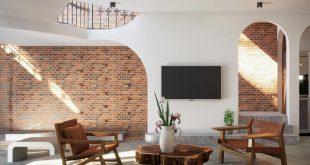 Tham Khảo Ngôi Nhà Tuyệt Đẹp Nhờ Không Gian Mở Và Tường Làm Bằng Gạch Trần 35