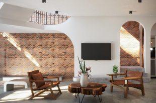 Tham Khảo Ngôi Nhà Tuyệt Đẹp Nhờ Không Gian Mở Và Tường Làm Bằng Gạch Trần 1