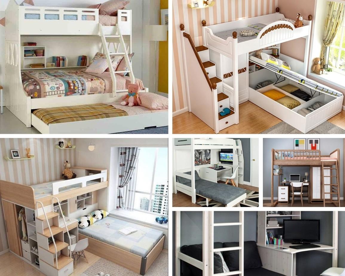 mẫu giường tầng cho nhà nhỏ