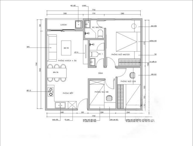 Bật Mí Cách Thiết Kế Thêm 1 Phòng Ngủ cho Căn Hộ 54m² 1