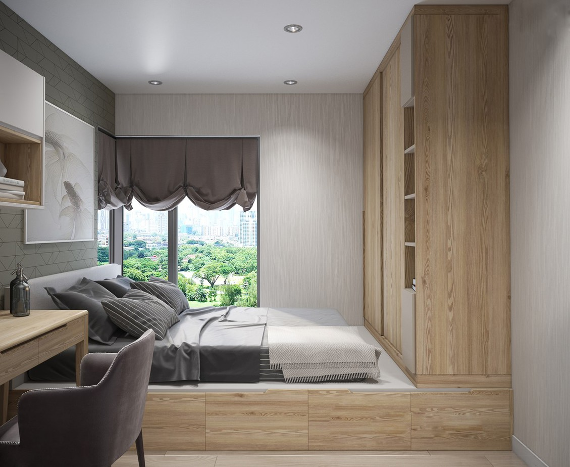 Bật Mí Cách Thiết Kế Thêm 1 Phòng Ngủ cho Căn Hộ 54m² 5