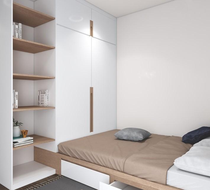 Bật Mí Cách Thiết Kế Thêm 1 Phòng Ngủ cho Căn Hộ 54m² 6