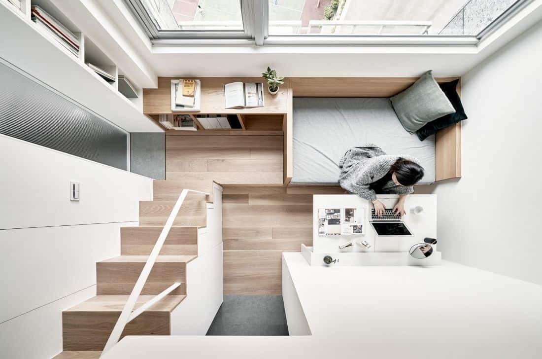 Cách thiết kế gác lững cho nhà có diện tích siêu nhỏ