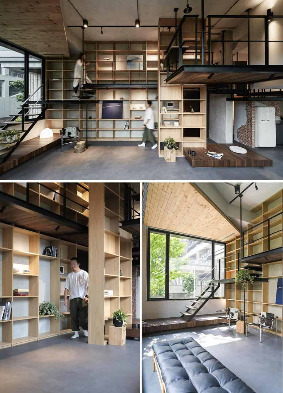 ngôi nhà có hệ thống phòng ngủ treo ấn tượng