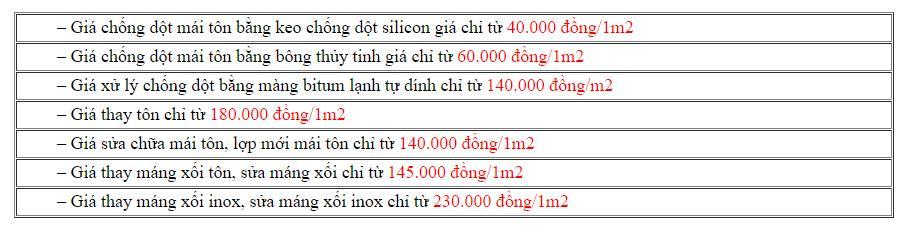 Báo Giá & Lưu Ý Khi Chống Dột Thấm Mái Tôn, Sân Thượng Ở HCM 4