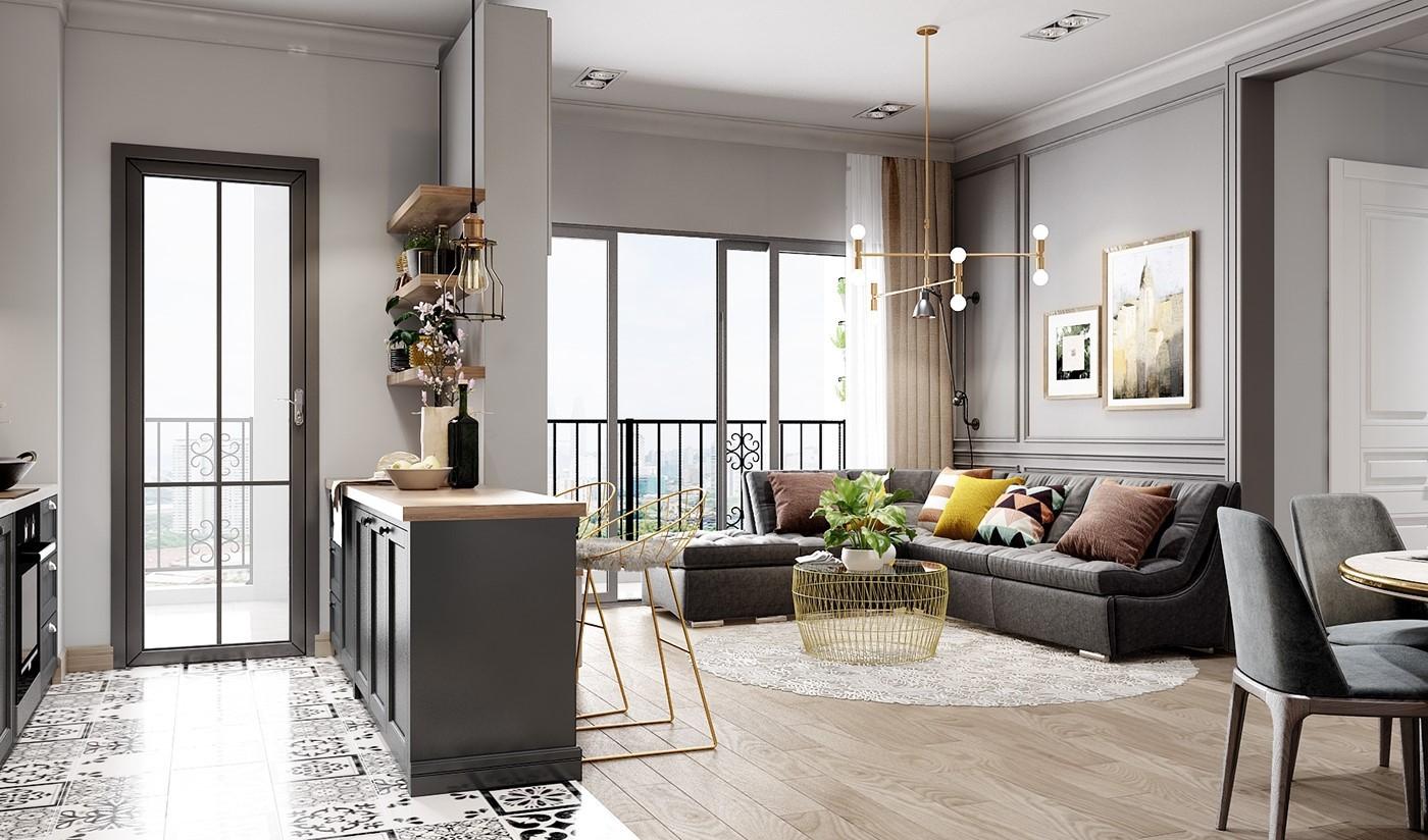 mẫu nội thất bếp đẹp cho nhà có diện tích 50 - 100m2