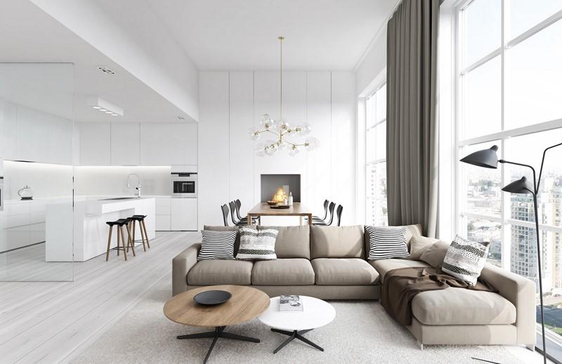 nội thất đẹp cho căn hộ 100 - 150m2