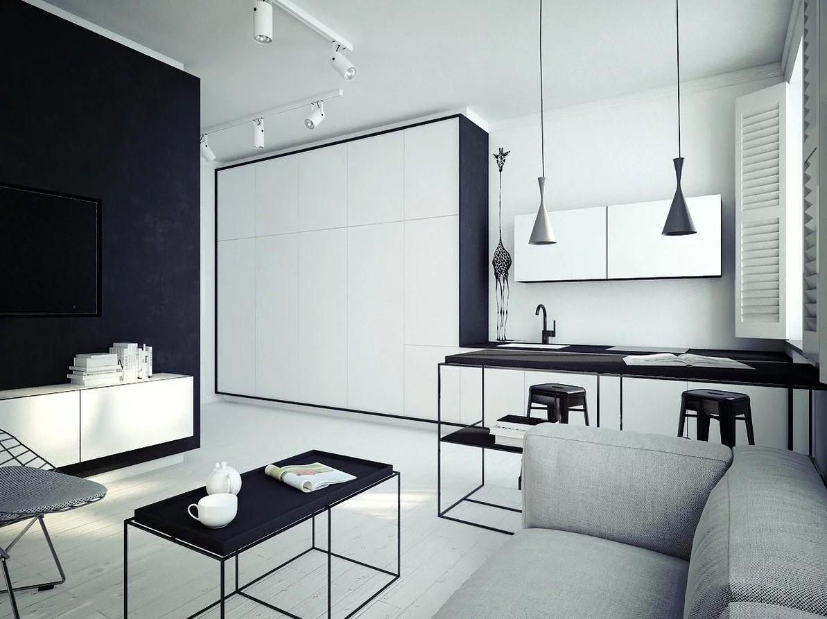 nội thất phòng khách đẹp cho nhà diện tích 50m2