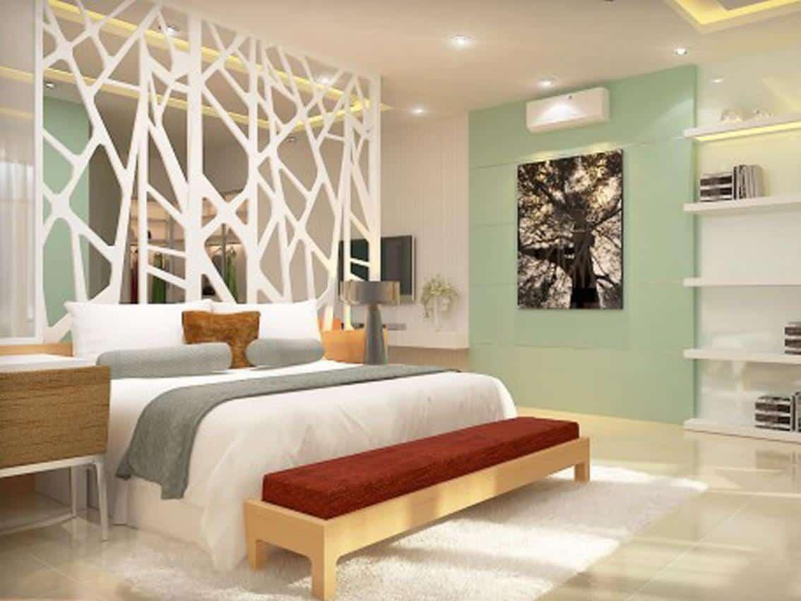 cách tách phòng ngủ thành 2 phòng đơn giản