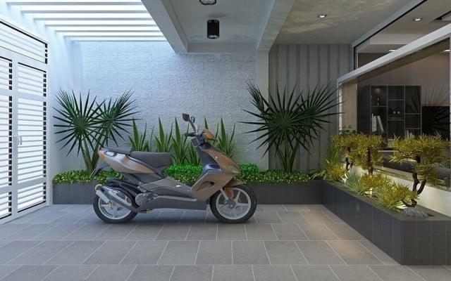 cách xây nhà để xe máy gia đình
