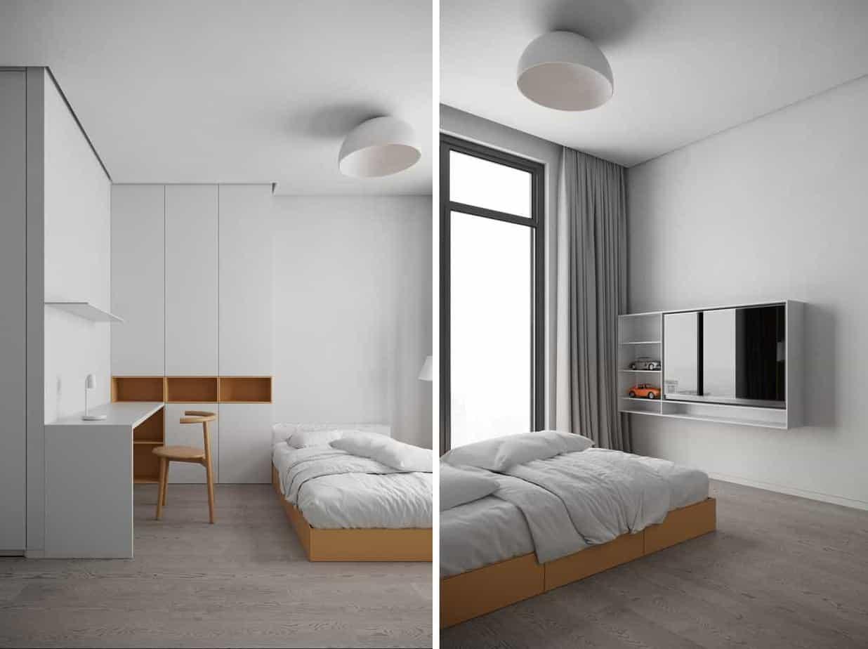 Phòng ngủ cho bé được chú trọng với gam màu sáng