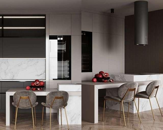 thiết kế nhà bếp cho căn hộ chung cư