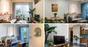 Thiết kế nhà với vật liệu truyền thống cho căn hộ 70m2 ở HCM