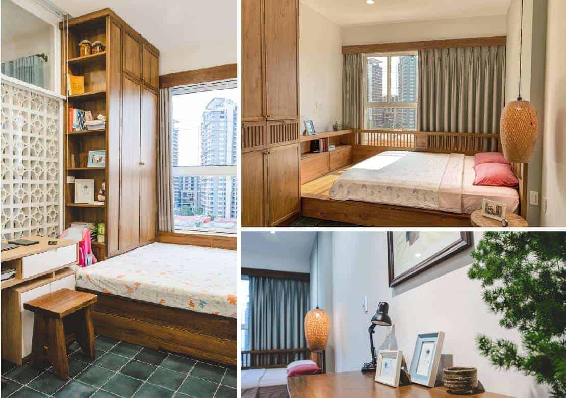 Chất liệu gỗ được ưu tiên sử dụng cho phòng ngủ