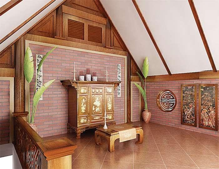 thiết kế thêm phòng thờ sân thượng