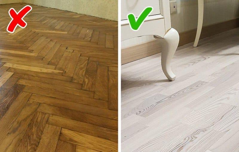 mẫu sàn gỗ lỗi thời