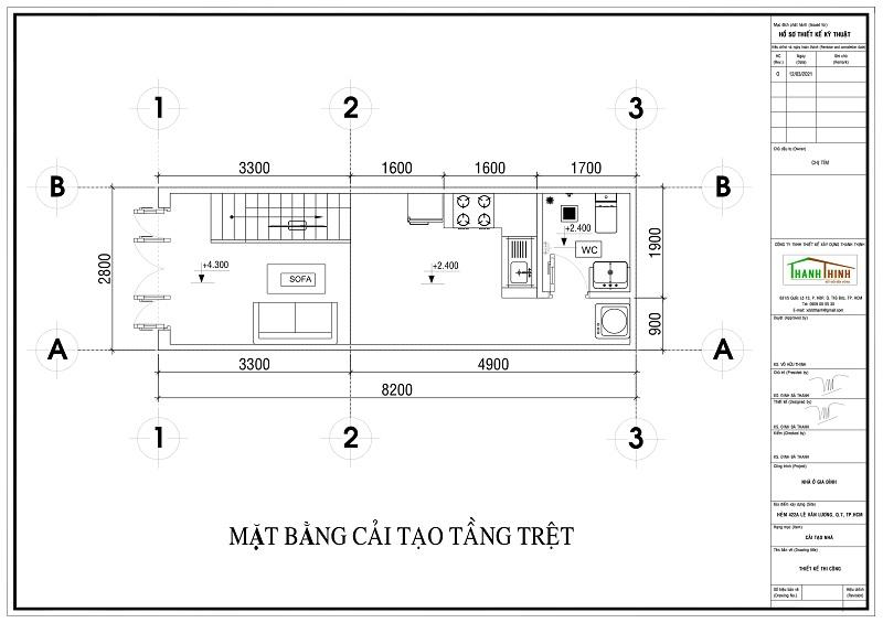 Bản Vẽ kiến trức Sửa Chữa Cải Tạo Nâng Tầng Cemboard Thái Lan tại quận 7 hcm
