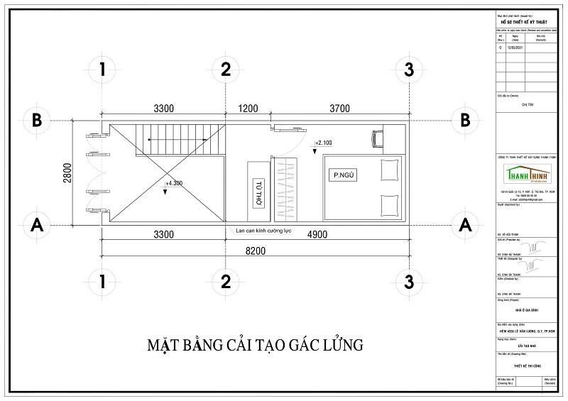 Bảng vẽ kiến trúc tầng gác lửng Sửa Chữa Cải Tạo Nâng Tầng Cemboard Thái Lan