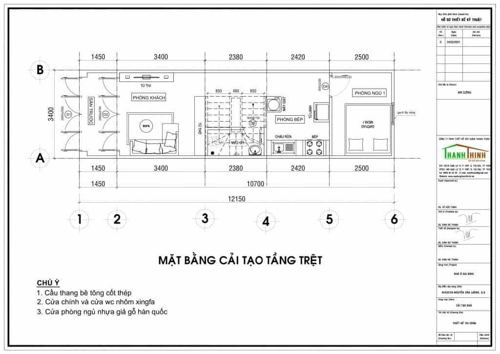 Sửa Chữa Nhà Anh Cường 1 Trệt 1 Lầu Nguyễn Văn Luông, Quận 6 1